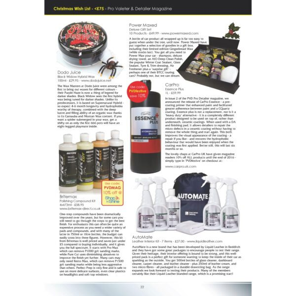 PRO Detailer Magazine – Nr. 4-2016 – New Products