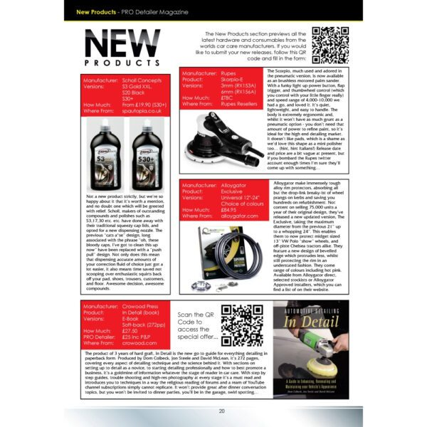 PRO Detailer Magazine – Nr. 5-2017 – New Products