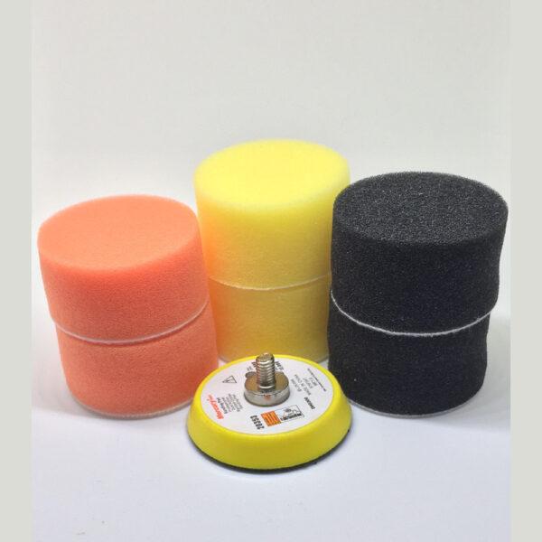 Polijst accessoires – mini polijstpads met backing plate